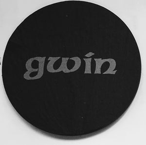 Welsh Slate Coaster - (Gwin-Wine)