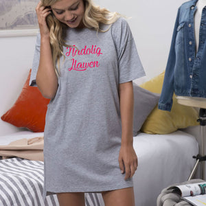 Girls Oversized sleepy T - Nadolig Llawen GREY