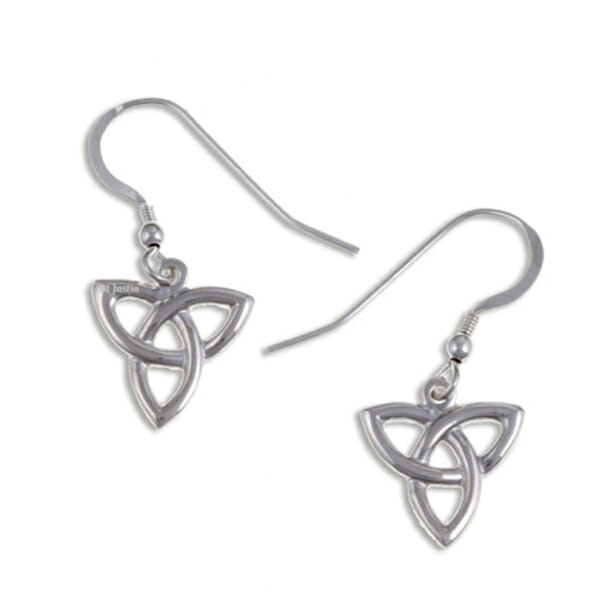 Three loop love knot drop earrings