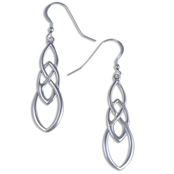 Linked knot Silver Celtic earrings