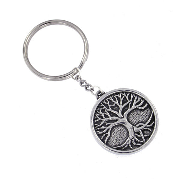 Tree of Life on leather key-fob (KF810)