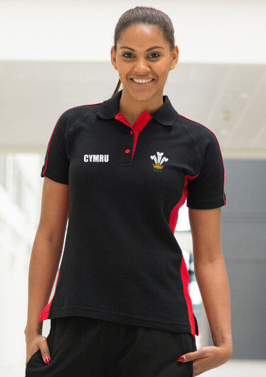 Modern Welsh Feathers - Women's Sport Contrast Polo Shirt