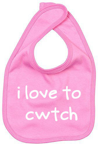 I Love to Cwtch - Welsh Baby Bib (Choice of 4 Colours)