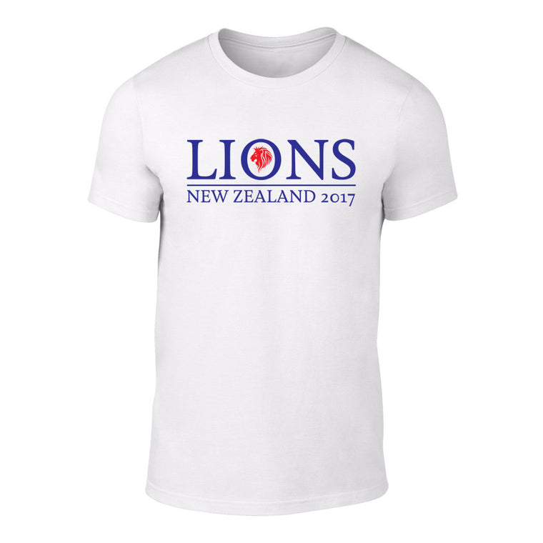 LIONS 2017 - Rugby Logo Tee - WHITE