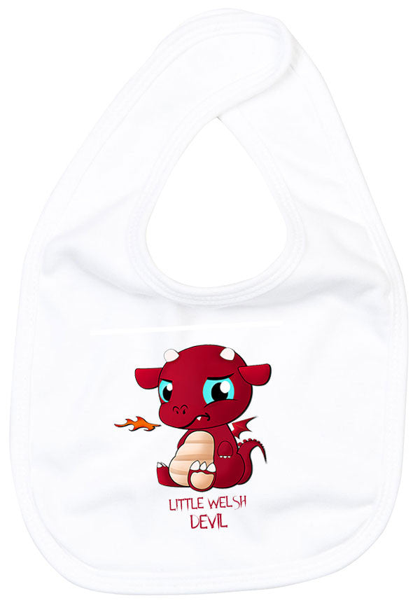 Little Welsh Devil - Baby Bib