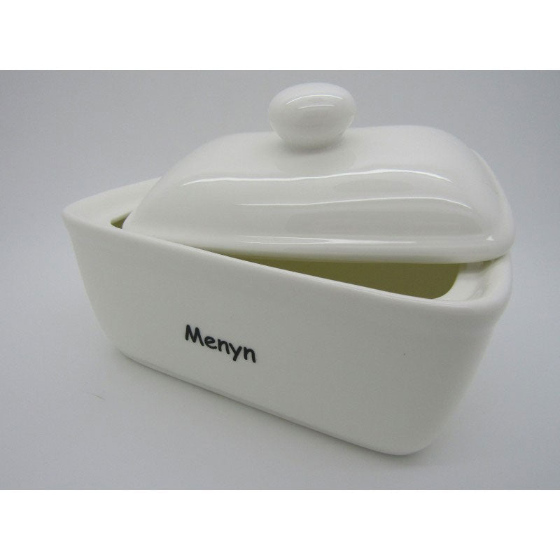 Menyn Welsh Pottery Butter Dish PLAIN