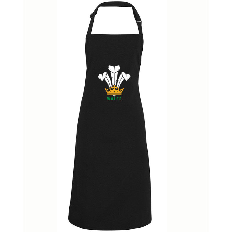 Modern Welsh Feathers - Welsh Apron (Black)