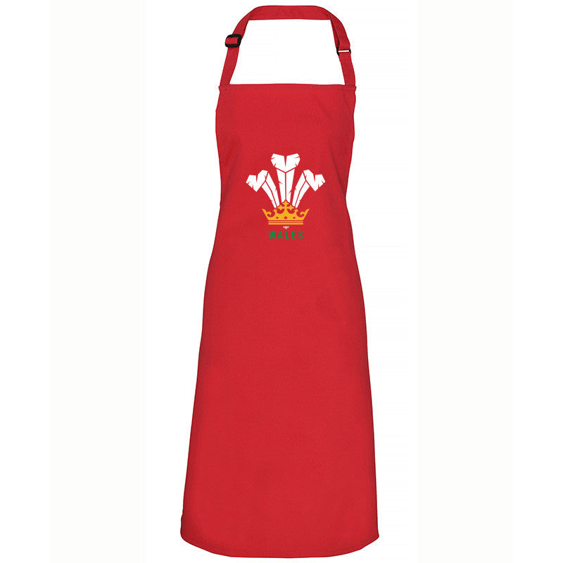 Modern Welsh Feathers - Welsh Apron (Red)