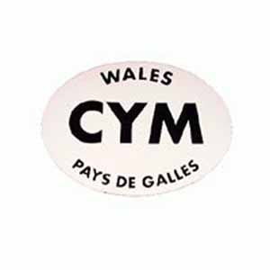 CYM Welsh Car Sticker