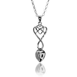 Celtic Welsh Lovespoon Heart  - Pendant By Sea Gems® (5181)