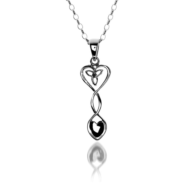 Celtic Heart & Welsh Lovespoon - Pendant By Sea Gems® (9843)