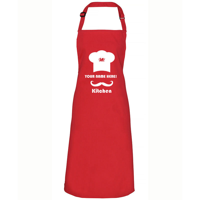 Personalised Kitchen - Welsh Dragon Apron - Giftware Wales