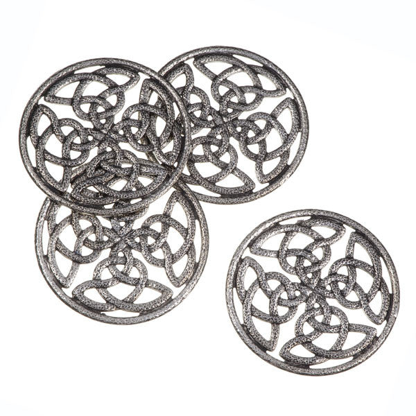 Quadrant knot pierced coasters – set of 4 (BT69)