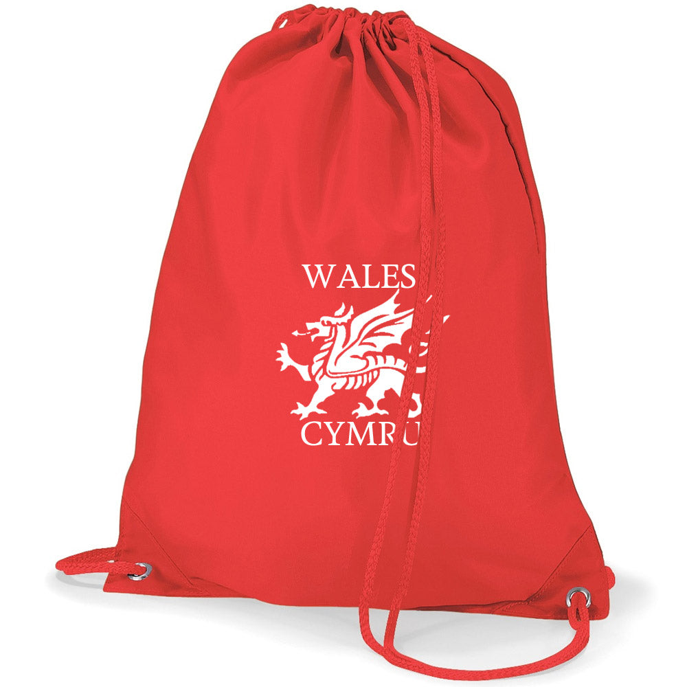 Welsh Dragon Duffel Bag - Personalised (Various Colours)