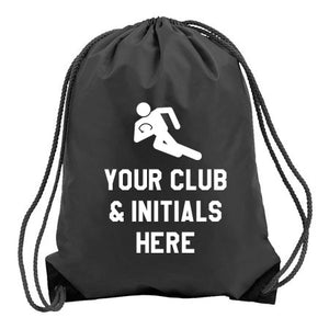 Rugby Logo- Personalised Duffel Bag - BLACK