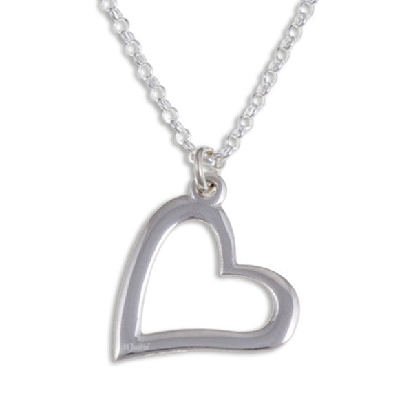 Silver Open heart pendant by St. Justin