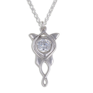 Elvish star pendant clear crystal - by St Justin