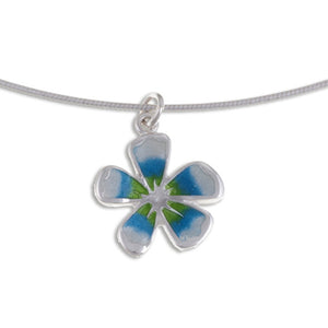 Fleur small Silver pendant by St Justin