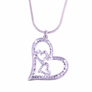 Three hearts Silver pendant by St Justin