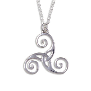Triscele silver pendant by St Justin