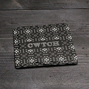 SQUARE WELSH SLATE COASTER - 'CWTCH' (VM)
