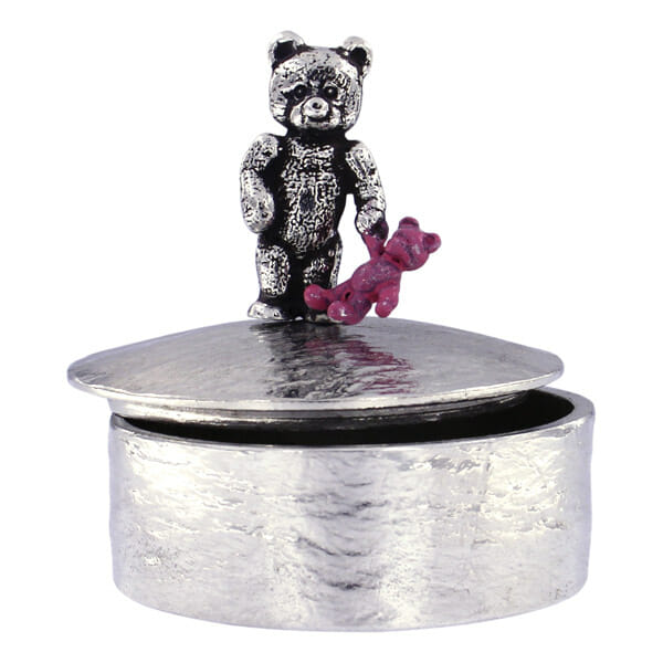 Teddy with pink baby teddy trinket box