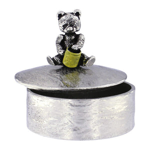 Teddy with painted honey pot trinket box