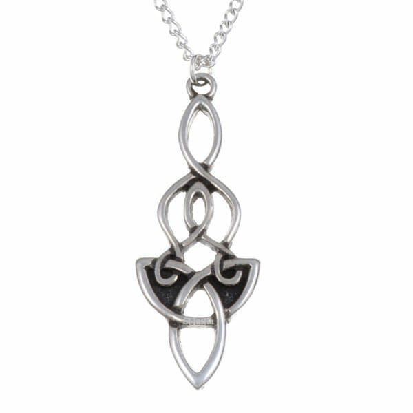 Dragon knot Pendant - Pewter (PN691)