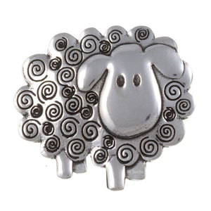 Swirly Sheep brooch