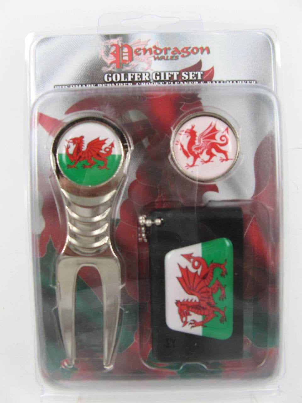 TENBY GOLF SET FORK/MARKER/CLEANER