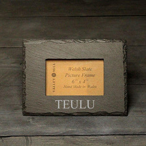 Welsh Slate Teulu - Family Photo Frame