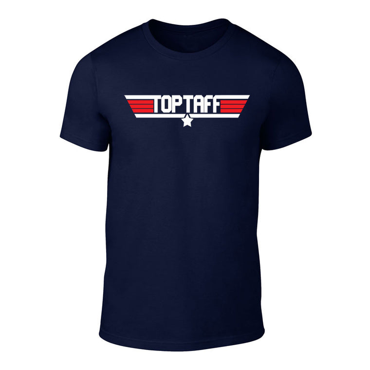 TOP TAFF - Top Gun Inspired Welsh T-Shirt (Navy)