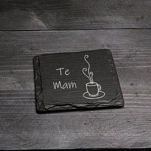 Te Mam Welsh Slate Coaster