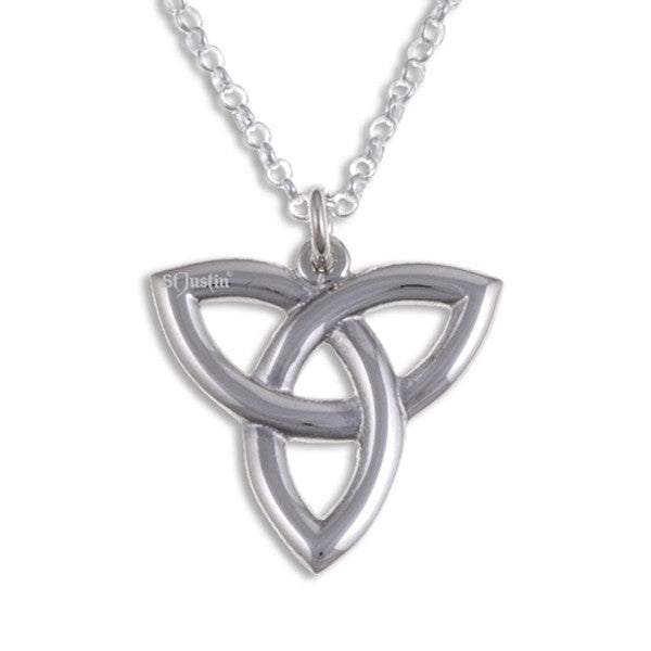 Three loop love knot pendant