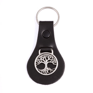 Tree of Life on leather key-fob (KF15)