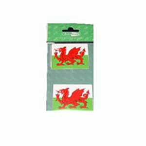 Twin Pack/ Welsh Flag Stickers