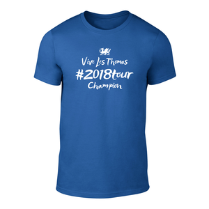 Geraint Thomas 2018 TDF Champion T Shirt ROYAL BLUE