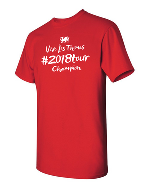 Geraint Thomas 2018 TDF Champion T Shirt RED