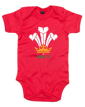 Modern Welsh Feathers - Baby Grow