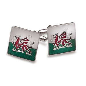 Welsh Flag Cufflinks - by Sea Gems (3372)