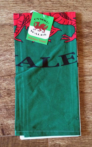Welsh Flag T-Towel folded