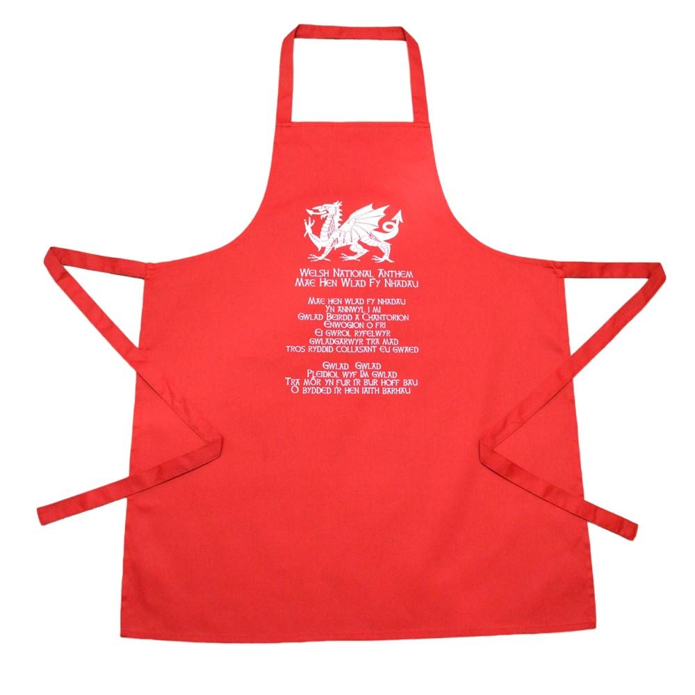 Welsh National Anthem Apron