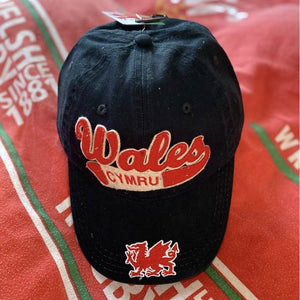 Welsh Swoosh Vintage Baseball Cap BLACK