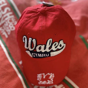 Welsh Swoosh Vintage Baseball Cap RED