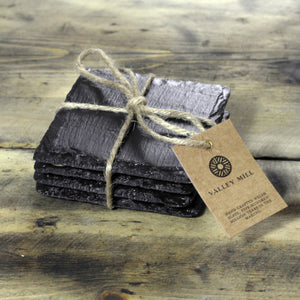 SQUARE WELSH SLATE COASTERS - SET OF 4