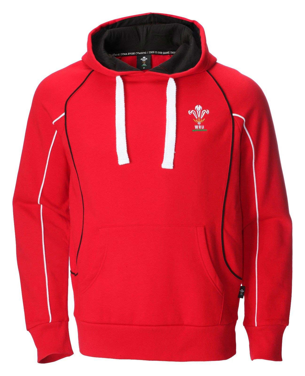 Mens Official WRU Welsh Red Rugby Hoodie RED