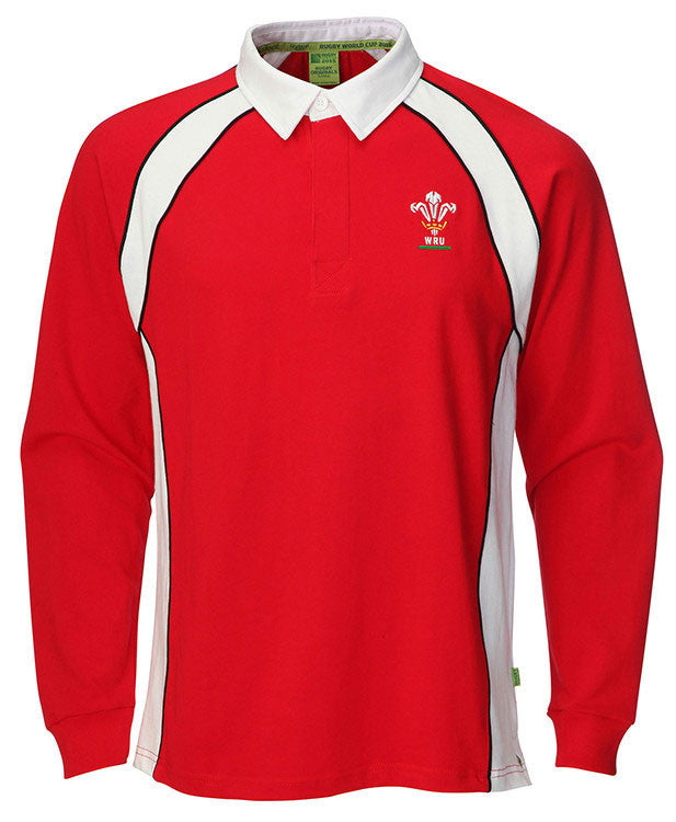 Rugby KIDS WALES FULL SLEEVES SHIRTS SIZE 22 TO 33