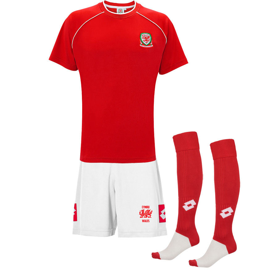 Wales Football Kit with Officially Liscenced Welsh FAW®Shirt (Adult)