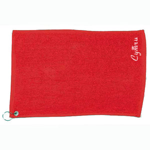 Luxury Range Welsh Golf Towel - RED