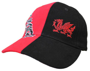 Welsh Dragon -Black & Red Baseball Cap